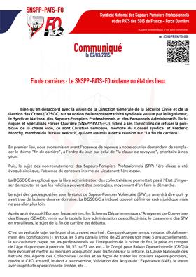 Le SNSPP-PATS-FO réclame un état des lieux