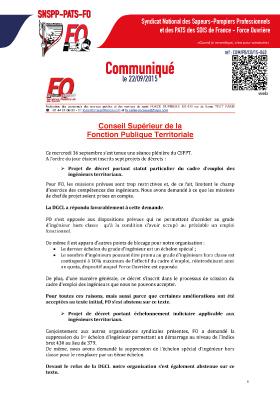 CSFPT : séance plénière du 16 septembre